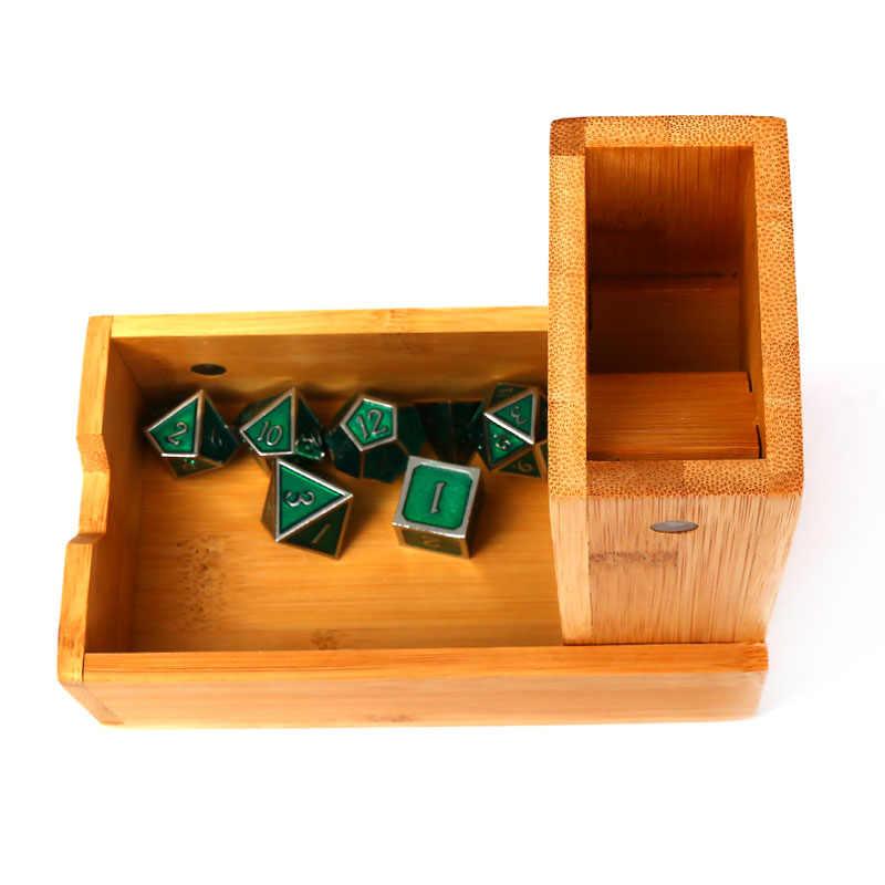 Chengshuo DND DICE Tower ไม้พับไม้ไผ่เก็บ dices แม่เหล็กการดูดซับ RPG ลูกเต๋าถาด 17 ซม.Dungeons และมังกรตารางเกม