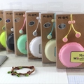 M85 macaroon colors noodle earphones in ear monitor earbuds audifonos bests with storage box ear phones free shipping