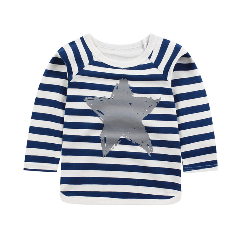 Retail Baby Boys Clothes Girls Long Sleeve Cotton T Shirts Spring Kids Tops Tee Shirt Brand Striped T-shirt Children Clothing цены