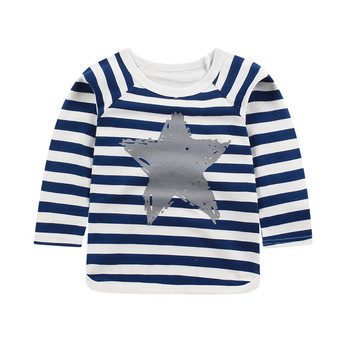 Retail Baby Boys Clothes Girls Long Sleeve Cotton T Shirts Spring Kids Tops Tee Shirt Brand Striped T-shirt Children Clothing spring fall teenager long sleeve shirts fashion 2019 kids girls plaid blouses cotton lace tops for baby girl children clothing