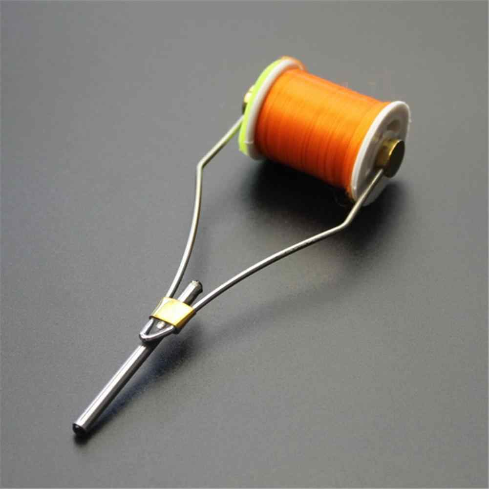 Fly Fishing Large Whip Finisher and Ceramic Bobbin Holder with Wooden Grip