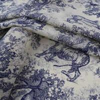 Os animais da floresta de tingimento reativo puro algodão tecido para camisa de vestido de bazin riche getzner telas por metro au tissu metro tissus