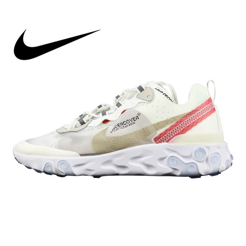 4a28db8d5955 Original Authentic Nike Epic React Element 87 Men s Running Shoes Sport  Outdoor Sneakers Athletic Designer New Arrival AQ1813