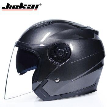 JIEKAI Motorcycle Helmets Electric Bicycle Helmet Open Face Dual Lens Visors Men Women Summer Scooter Motorbike Moto Bike Helmet 15