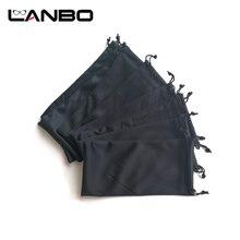 Lanbo 50 pçs preto microfibra óculos de sol bolsa acrílico fibres atacado macio saco de pano óculos caso eyewear acessórios