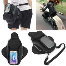 Mayitr 1pc Nylon 4 Pockets Magnetic Motorcycle Oil Fuel Tank Bag Waterproof Portable Backpack For Mobile Phone Money Cards GPS