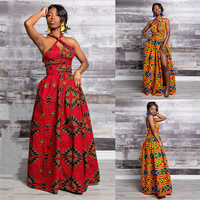 African Dresses For Women Robe Africaine African Clothing Dashiki Fashion Print Cloth Long Maxi Dress Africa Clothing