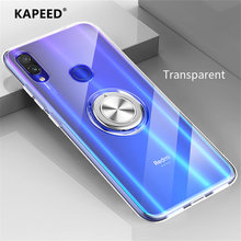 For Xiaomi Redmi Note 7 Pro Luxury Transparent Magnetic Ring Soft Silicone Phone Cover Case For Xiaomi Redmi Note 7 Pro Fundas(China)