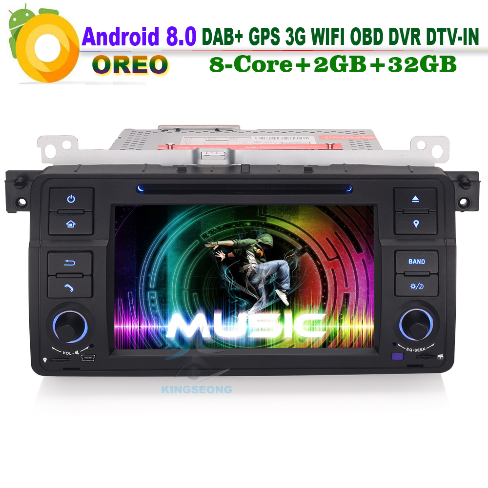 Android 8.0 Car DAB+ DVD AUX OBD Sat Nav WiFi CD 3G RDS DTV IN CAM IN DVR Car GPS Navigation for BMW E46 3er Rover 75 M3 MG ZT