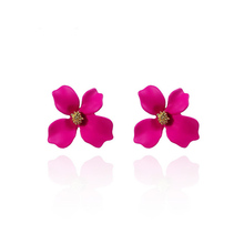 New earrings in five colors Europe and America Flower