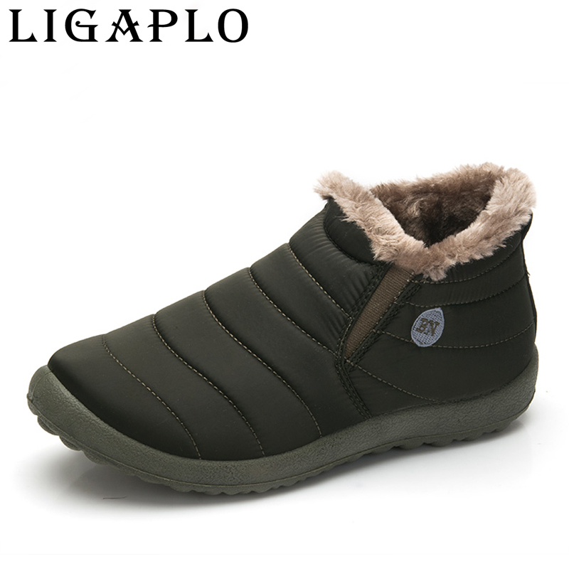 Men Winter Keep Warm Plush Ankle Mens Running Shoes Snow boots Outdoor Waterproof adults Sneakers outdoor Man shoes size 38-48 thick men s work boots men lace up leather waterproof shoes unisex with short plush winter outdoor men s velvet warm snow boots