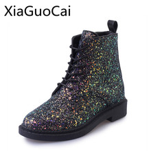 5555b036e7 Buy glitter heel boots and get free shipping on AliExpress.com