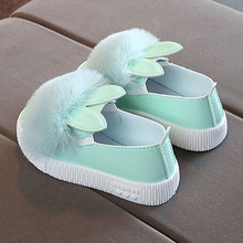 Children Kids Girl Shoes Rabbit Ears Sneakers Anti-slip Brea