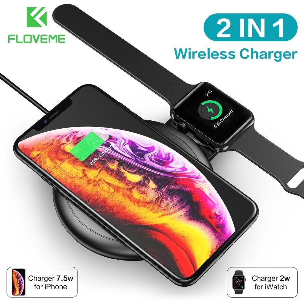 FLOVEME 2 en 1 chargeur sans fil pour iPhone X XR XS Max 8 pour Apple Watch 4 3 2 1 chargeur Qi de charge rapide pour Samsung S10 S9 S8FLOVEME 2 en 1 chargeur sans fil pour iPhone X XR XS Max 8 pour Apple Watch 4 3 2 1 chargeur Qi de charge rapide pour Samsung S10 S9 S8