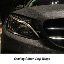 Glitter Diamond Car Vinyl Film Wrap black Sanding Sparkle Foil Truck Motorcycle Vehicle Wrapping With Air Release 5ft X 98ft