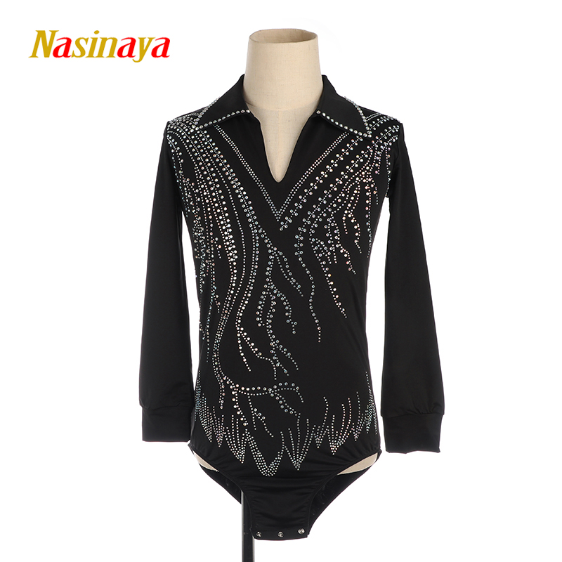 Nasinaya Boys Man Figure Skating Performance Clothing Customized Competition Ice Skating Leotard Kids Gymnastics Elastic