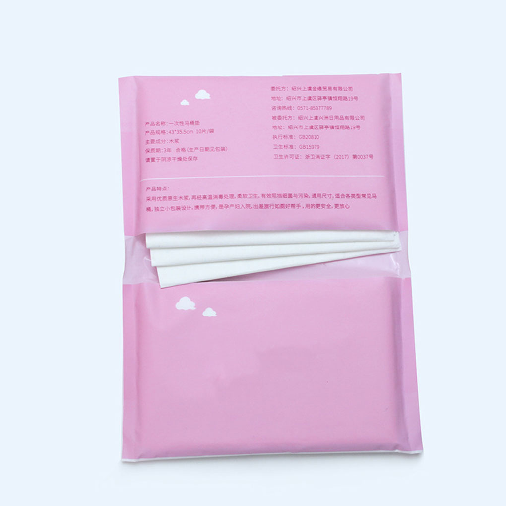 New Portable 10 Pcs/lot Travel Disposable Toilet Seat Cover Mat 100% Waterproof Toilet Paper Pad Bathroom Accessories Set