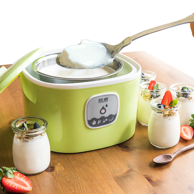Yogurt machine Household Fully automatic Yogurt machine Mini glass Sub-cup self made Rice wine machine purple yogurt makers rice wine natto machine household fully automatic yogurt glass sub cup liner multifunctional kitchen helper