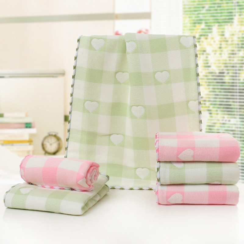 Baby Care Soft Baby Towel 25x50cm 5 Layer Gauze Soft Wipe Food Washing Face Floral For Newborn