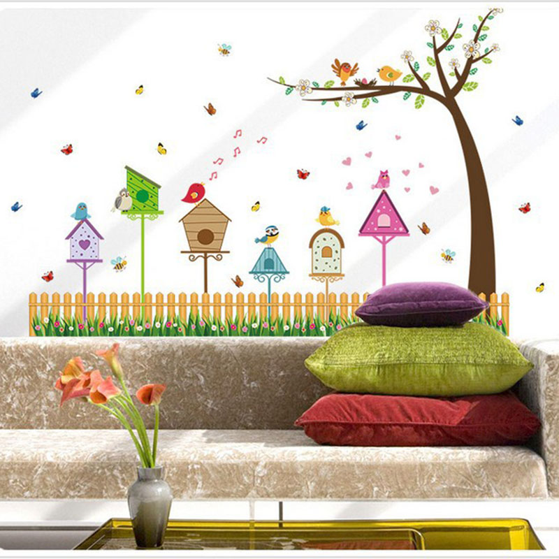cartoon fence bird nest baseboard fresh home living room