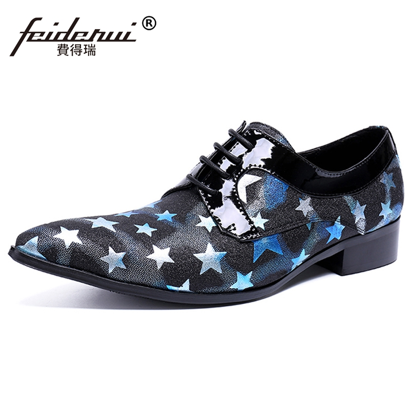 Plus Size Fashion Pointed Toe Derby Man Banquet Footwear Formal Designer Patent Leather Wedding Party Men's Dress Shoes SL461 plus size fashion pointed toe derby man runway footwear italian designer patent leather wedding party men s runway shoes sl435