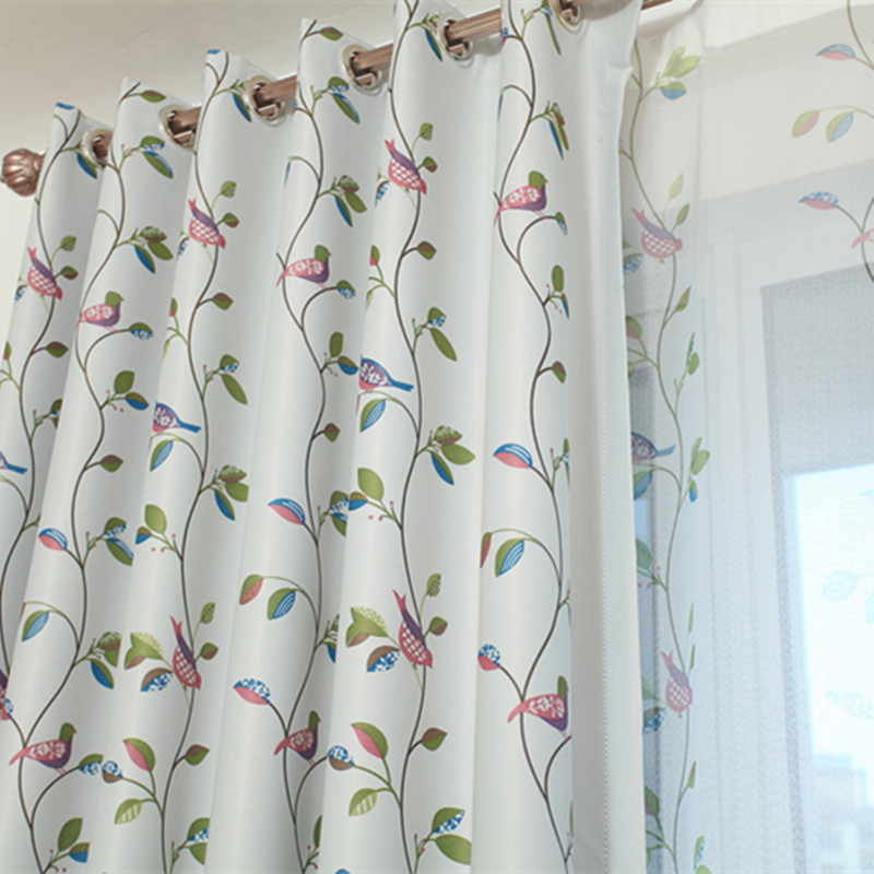 Floral Tulle Curtains Modern Sheer Fabrics Purple Home Textile Kitchen Door Curtains Short Curtains Living Room Window Treatment Rich And Magnificent Window Treatments Home Textile