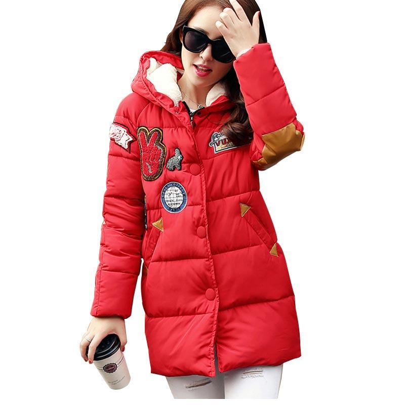 2016 New Winter Women Down Cotton Jacket Plus Size Long Thick Parkas Female Hooded Cotton Padded Fashion Warm Coat Outerwear кофе в зернах palombini super bar 1кг