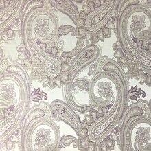 Tela de Jacquard de Cachemira tejida marrón púrpura tapicería sofá tela muebles Bedboard sillón Interior Tela 140cm venta por metro