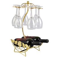 Best Selling Wine Rack Stable Champagne Bottle Glass Cup Holder Standing Display Bracket Elegant Cup Shelf