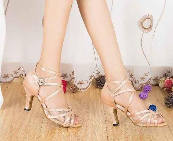 Новая Брендовая женская плоть атласная Бальные Латинской профессиональные танцевальные туфли бесплатная доставка