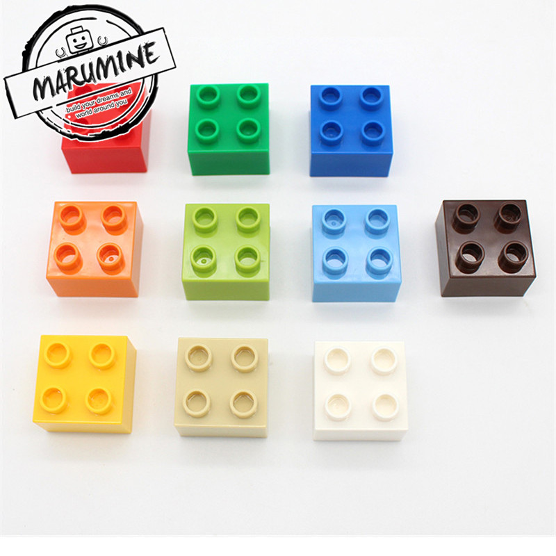 Lot of 50 Lego DUPLO Bricks slopes Building Blocks READ DESCRIPTION