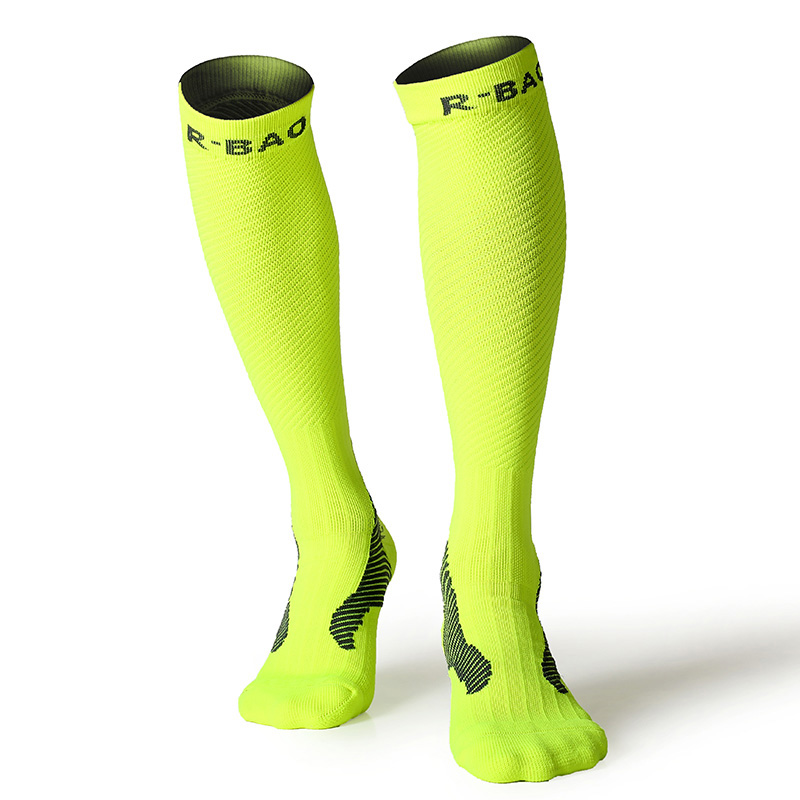 Image 4 - RB7703 R Bao Men/Women Professional Compression Running Stockings High quality Marathon Sports Socks Quick Dry Bicycle Socks-in Running Socks from Sports & Entertainment