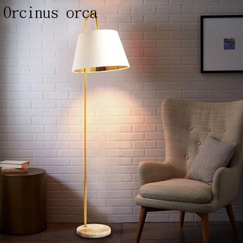 Nordique simple moderne de pêche lampe vertical lampe de bureau salon chambre lampe gradation lumière lampadaire Sans Frais de Port
