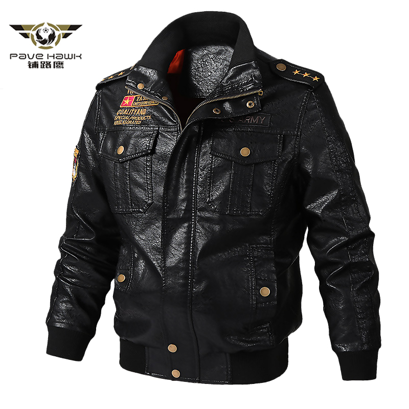 Men's Faux Leather Jackets Men Stand Collar Coats Male Motorcycle PU Leather Jacket Casual Slim Brand Coats Plus Size M-6XL