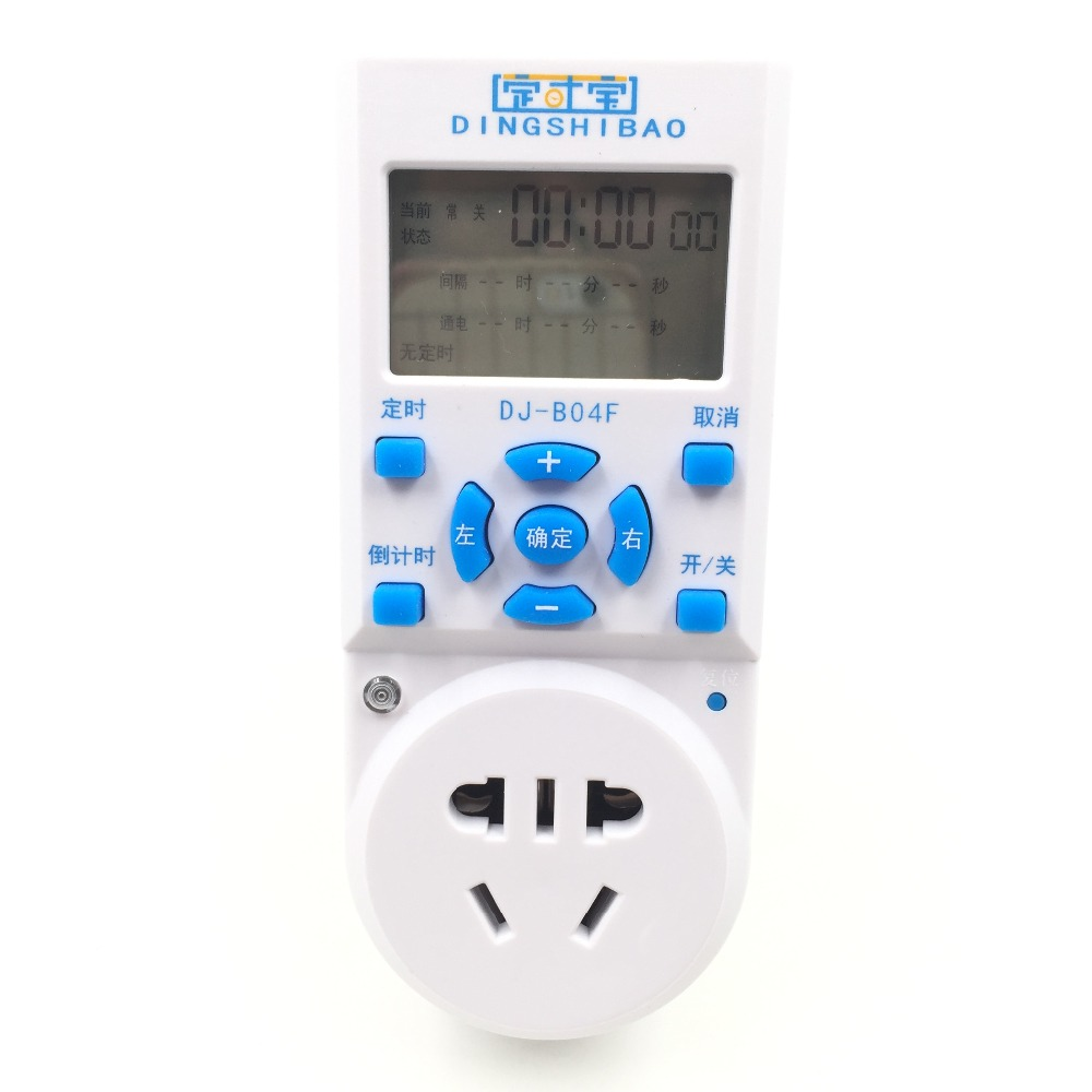 Timing treasure DJ-B04F interval timer socket central heating circulating water pump time controller time control switch nobrand interval в комплекте с матрасом