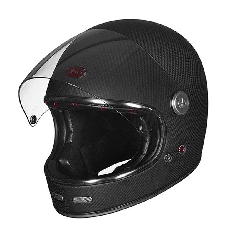 BEON official store Full Face Carbon Fiber helmet Motocross Motorcycle Helmet Men Women Full cover Ultralight Moto Helmets b-510