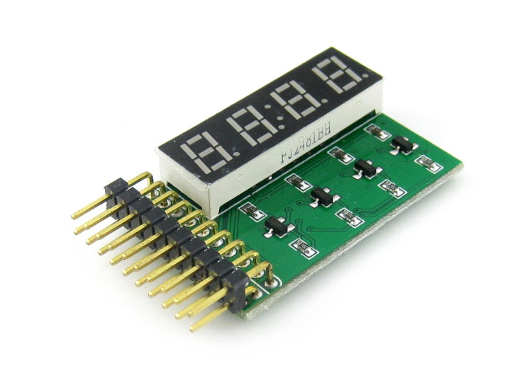 8 SEG LED Display Board Digital Clock Tube Display Module 4-Digit 8-Segment LED Display Board, Including Decimal Point