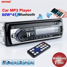 Radio de coche Hippcron, reproductor de MP3 estéreo, Bluetooth Digital 60Wx4, FM, Audio, música, USB / SD con entrada auxiliar en el tablero
