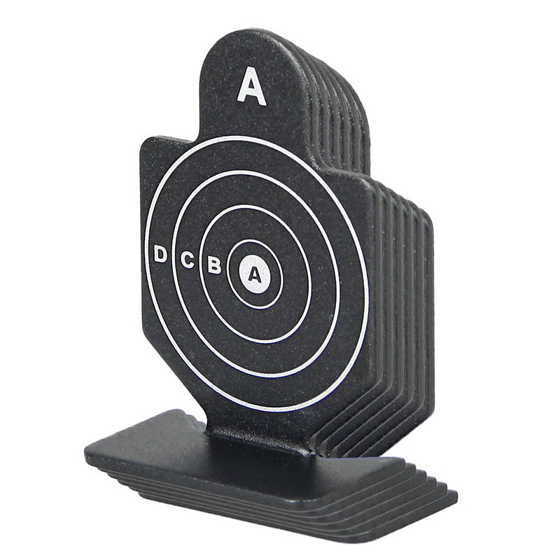 Training Target Tactical Black Shooting Target 6pcs 64x44x20mm For Hunting Shooting Use Gs33-0180B