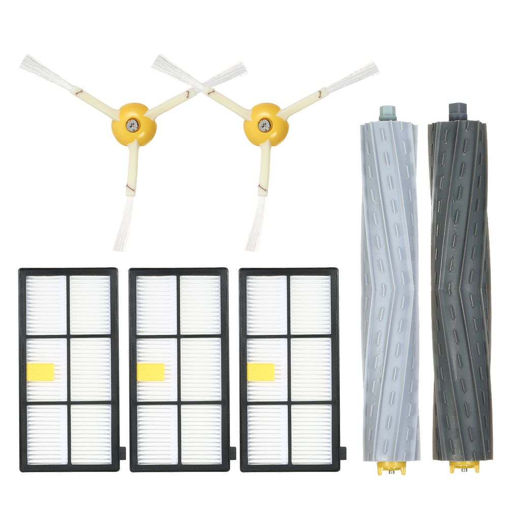 7pcs Filters and Brushes Vacuum Cleaner Accessory Kit for iRobot Roomba 800 900