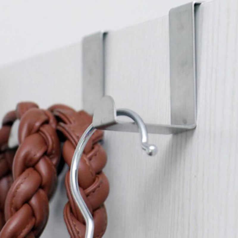 HENGHOME 2 STKS Thuis Keuken Deur Rvs Zelf Houder Hanger Hangen Kapstokken Ladeblok Handdoek Kleding Pothook