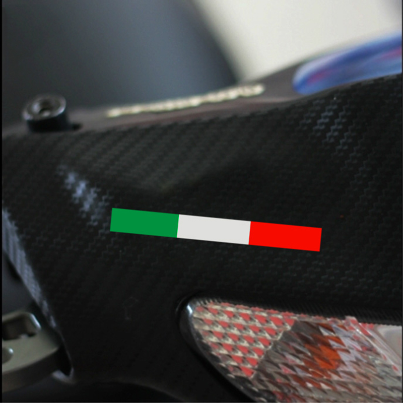 Italy flag design motorcycle automobile decor vinyl for Automobile decoration accessories