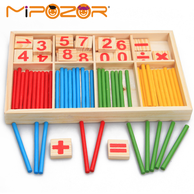 MIPOZOR Wooden Material Toys Educational Baby Montessori Beginner ...