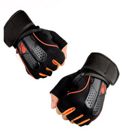 1 Pair Sports Gym Gloves Men Women Fitness Exercise Training Half Finger Body Workout Anti Slip