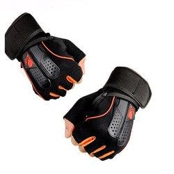 1 زوج الرياضة رياضة قفازات الرجال النساء اللياقة البدنية ممارسة التدريب نصف الاصبع الجسم تجريب مكافحة زلة قفازات لرفع الأثقال