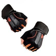 1 Pair Sports Gym Gloves Men Women Fitness Exercise Training Half Finger Body