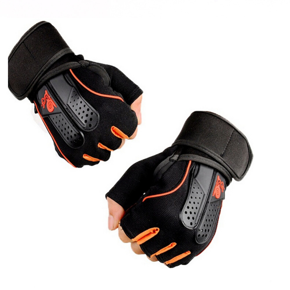 Mens piloxing gloves - 1 Pair Sports Gym Gloves Men Women Fitness Exercise Training Half Finger Body Workout Anti Slip