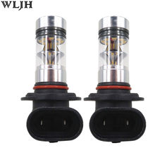 WLJH 2X 100W 1000lm Led H7 H8 9005 9006 5202 1156 1157 7440 7443 H16 P13W PSX24W PSX26W Car Auto Fog Lamp Driving Light Bulbs(China)