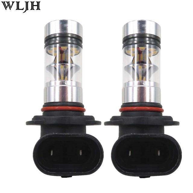 WLJH 2X 100W 1000lm Led H7 H8 9005 9006 5202 1156 1157 7440 7443 H16 P13W PSX24W PSX26W Car Auto Fog Lamp Driving Light Bulbs