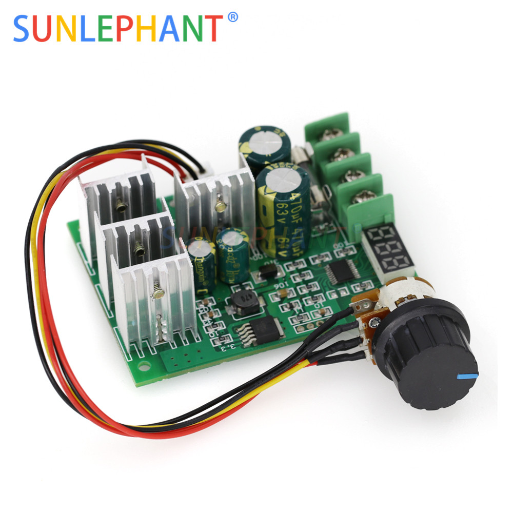 Home Improvement Electrical Equipments & Supplies 100% Quality Dc6-60v 30a Digital Display 0~100% Adjustable Drive Module Pwm Dc Motor Speed Controller With Case